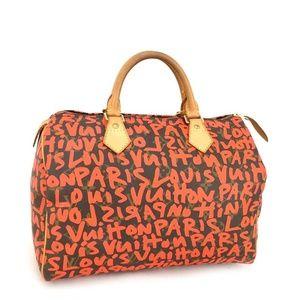 100% Auth Louis Vuitton Graffiti 30 Boston Bag